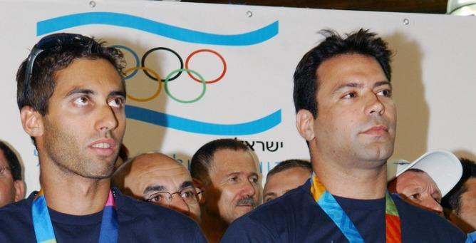 Windsurfer Gal Fridman (left) and judokan Arik Ze'evi (right). Photo by Moshe Milner