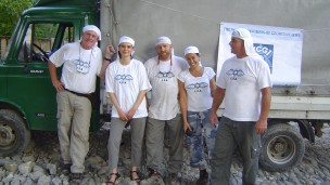 Non-profit disaster relief organization Israeli Flying Aid provided assistance in the wake of Hurricane Katrina in New Orleans. Photo: courtesy
