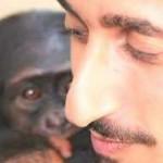 Ofir Drori with chimp