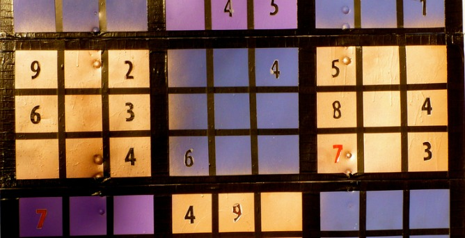 Sudoku. Photo by Rick McCharles