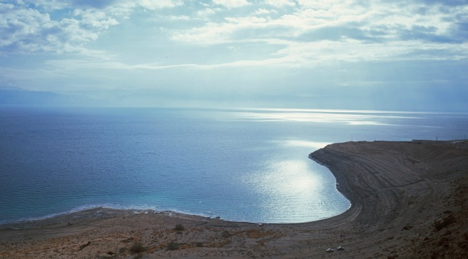 It may look calm, but the Dead Sea is shrinking rapidly and there's a battle brewing among those who hope to save it. Photo by Doron Horowitz/Flash90.