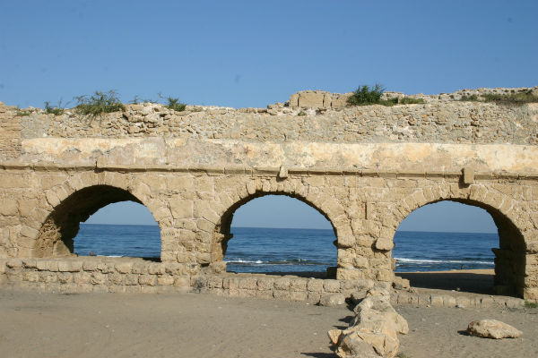 Aqueduct Beach, Caesarea. Photo courtesy of www.goisrael.com