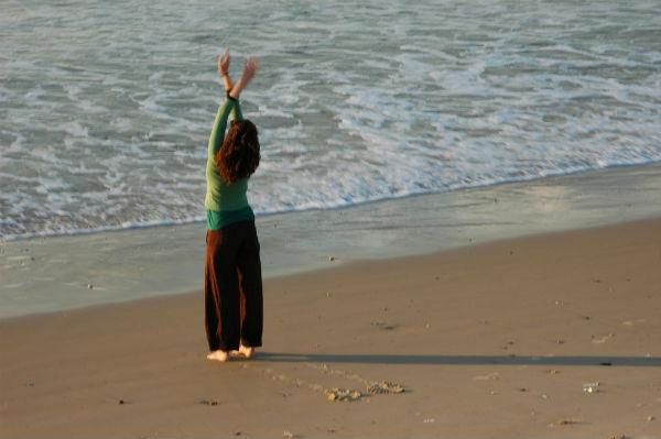 On the beach in Tel Aviv.