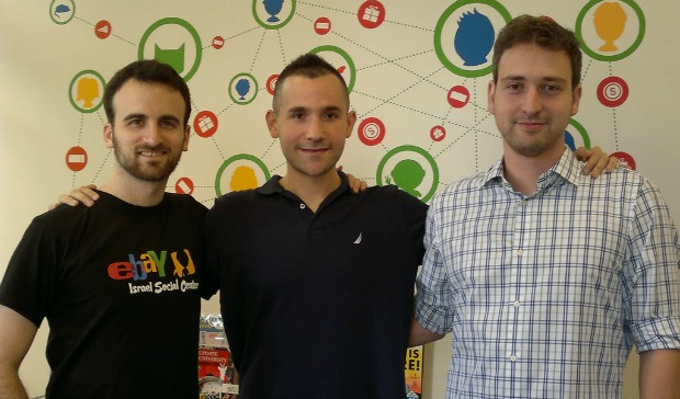Childhood chums Ron Gura, Matan Bar and Erez Dickman run eBay's new Israel Social Center.