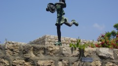 Skating girl by Ora Segalis in Ein Hod. Photo courtesy