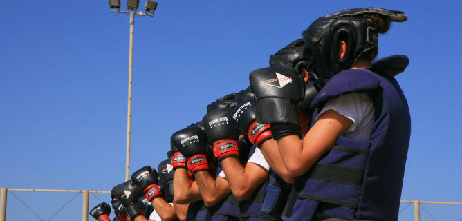 IDF soldiers practice Krav Maga. Photo by Chen Leopold/Flash90.