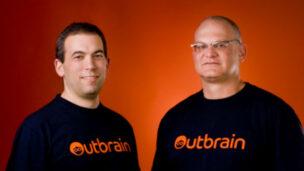 Co-founders Yaron Galai and Ori Lahav of Outbrain.