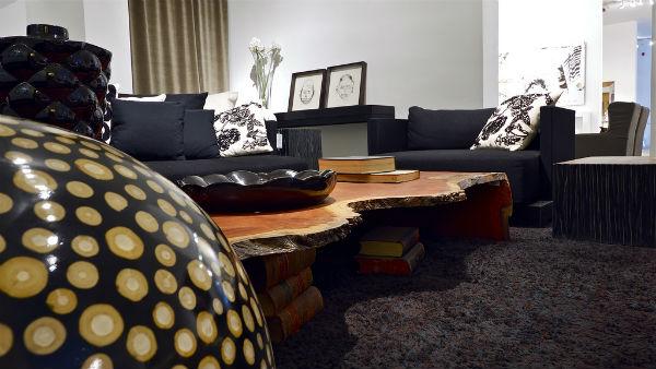 This coffee table is crafted from a piece of wood Kastiel found at a Paris raw materials fair.