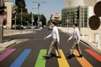 "In a spoof on ""Abbey Road,"" The Young Professionals created a buzz for TLV Gay Pride Week."