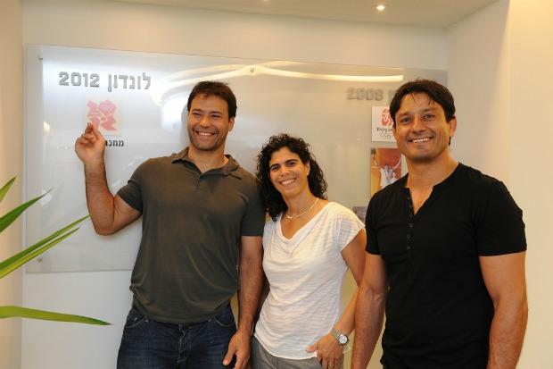 Judo greats: Olympic medalists Arik Zeevi, Yael Arad and Oren Smadja. Photo courtesy Israel Olympic Committee