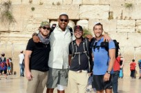 Buckley, Miller, Giovinazzo and Togo at the Western Wall. Photo by Michael Kovac/WireImage