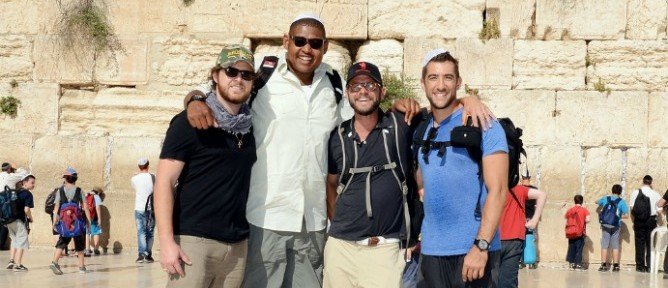 CSI stars Buckley, Miller, Giovinazzo and Togo at the Western Wall