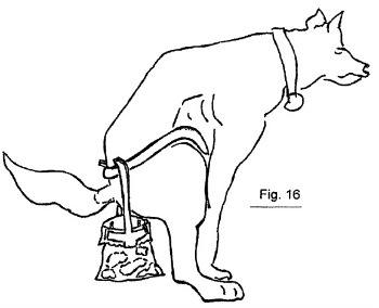 Another invention with patent pending is a low-tech device for hands-free collection of dog droppings.
