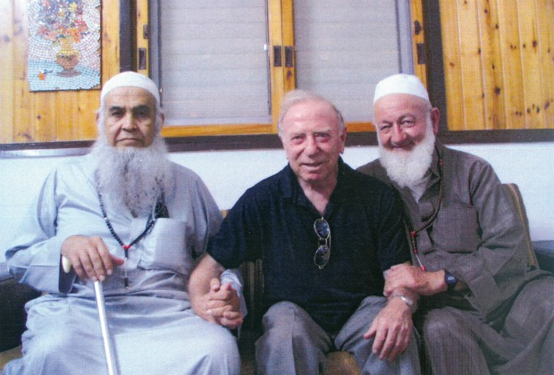 Israeli irrigation expert Dr. Daniel Hillel with Palestinian leaders.