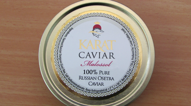 Tinned Israeli caviar ready for export.