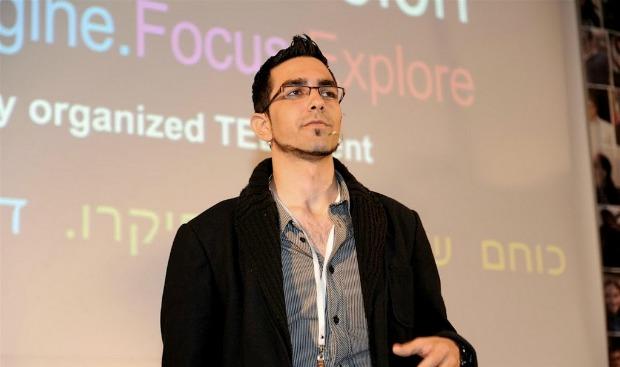 Mickey Haslavsky, 18, presenting at TEDx Youth@Holon.