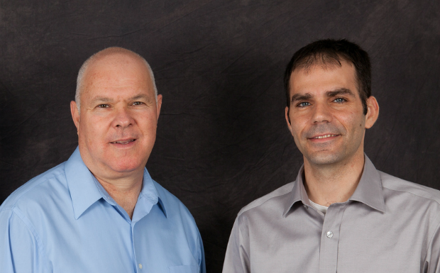 David Almagor, left, and Adi Shamir, co-founders of Panoramic Power.