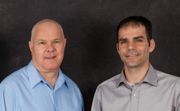 David Almagor, left, and Adi Shamir, co-founders of Panoramic Power.