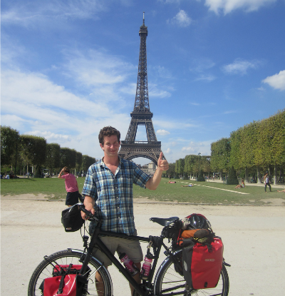 Tom Peled at the Eiffel Tower.