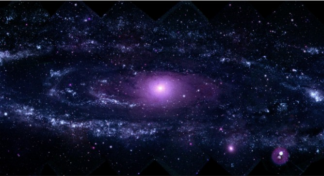 Encouraging children to think about galaxies in outer space helps teach children expansive thought. Photo by NASA/Swift/Stefan Immler (GSFC) and Erin Grand (UMCP)/ Flash90.