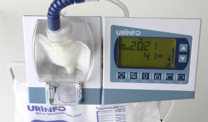 URINFO electronically measures urine flow in real time.