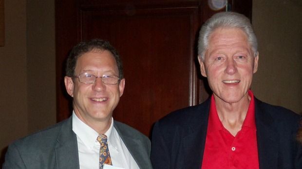Abramowitz with former US President Bill Clinton, his partner in the Haiti initiative.