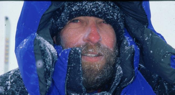 Israeli adventurer Doron Erel at the Antarctica ice cap.