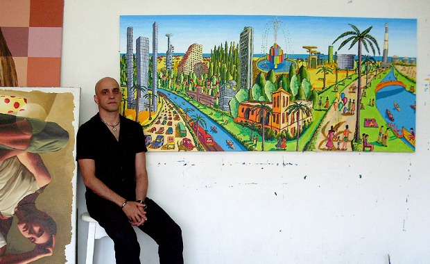 Perez lives in his studio in South Tel Aviv.