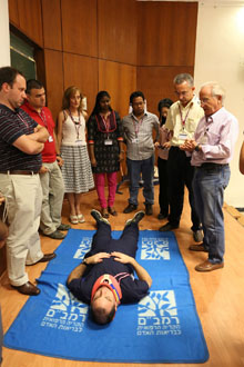 Trauma simulation at Rambam Health Care Campus. Photo by Pioter Fliter/RHCC