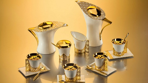 This coffee set costs $50,000.