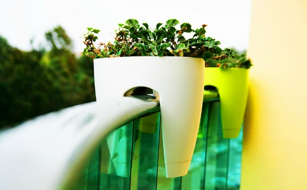 A nifty space-saving idea for patio gardens.