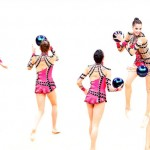 Israel's all-around rhythmic gymnasts finished eighth in the group finals event in London.