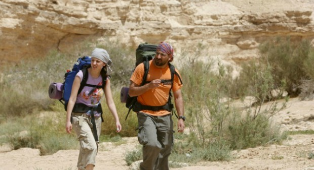 Hikers cross the desert on the Israel Trail. Photo by Flash90.