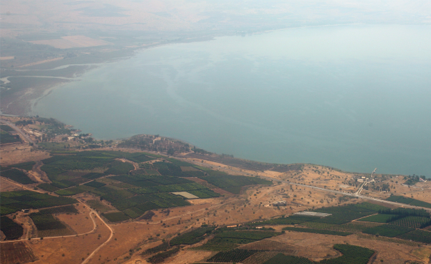 The Sea of Galilee is Israel's largest freshwater lake, and a focal point of life in the Galilee. Photo by Flash90.