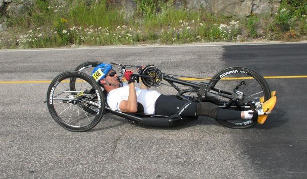 Handcyclist Kobi Leon
