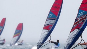 Windsurfer Lee Korzits sailed into sixth place in the women's RS:X event in London.