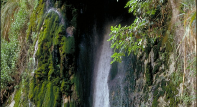 Nahal David waterfall in Ein Gedi. Photo courtesy of Israel Tourism Ministry