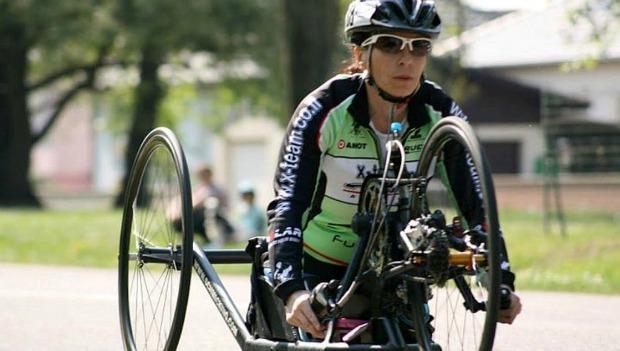 Handcyclist Pascale Berkowitz