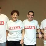 Omri Rosenkrantz, Maureen Hoch, Evan Cohen and Raz Na'ot hope to spell their way to glory in Glasgow.