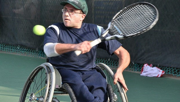 Tennis player Shraga Weinberg. Photo by Taz Livnat