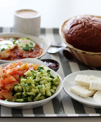 Typical Israeli breakfast. (Shutterstock.com)
