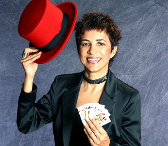 Dahlia Pelled, president of the Israeli Society of Magicians.