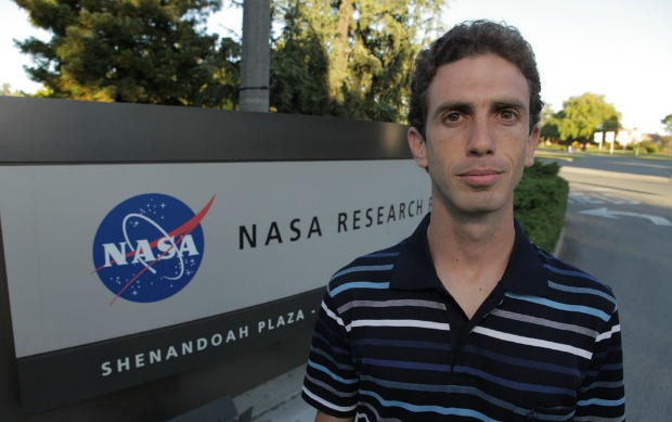Erez Livneh at NASA's Ames Research Base. Photo by Matt Rutherford