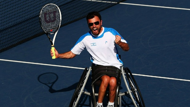 A paraplegic, Gershony only took up tennis a year ago.