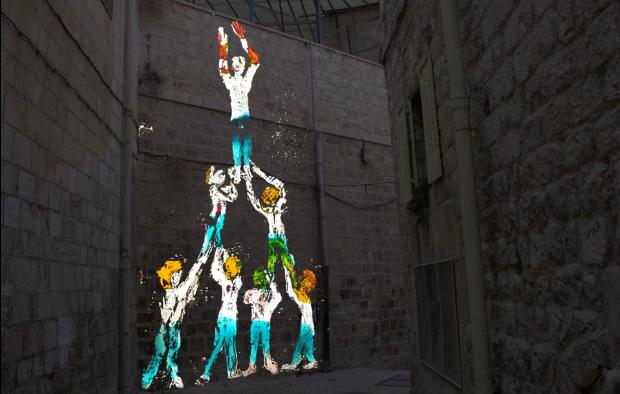 "Nikola Dicke's ""Higher Up"" from this year's Jerusalem Light Festival."