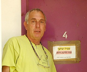 Trail Angel Shlomi Flax at Kibbutz Yiron, Upper Galilee. Photo courtesy of the Israel Trail Committee, SPNI