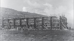 Housing estates under construction, Kiryat Eliahu, Haifa, 1953. (Munio Gitai Weinraub)