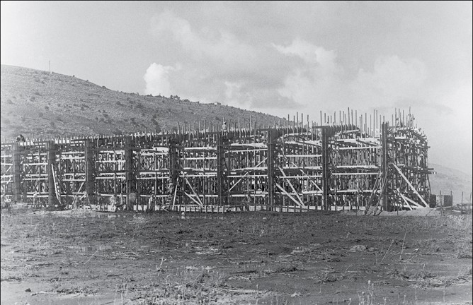 Housing estates under construction, Kiryat Eliahu, Haifa, 1953. (Munio Gitai Weinraub)