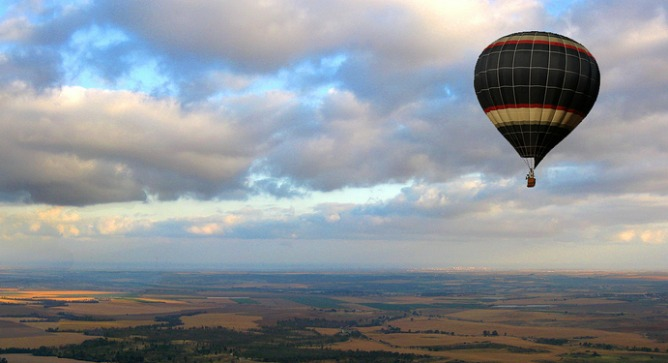 A unique way to see Israel. Photo courtesy of SkyTrek