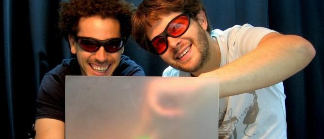 Weizmann Institute researchers Ori Katz, left, and Eran Small.